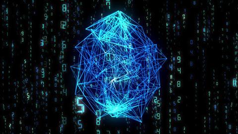 digital image, wireframe, blue CG動画