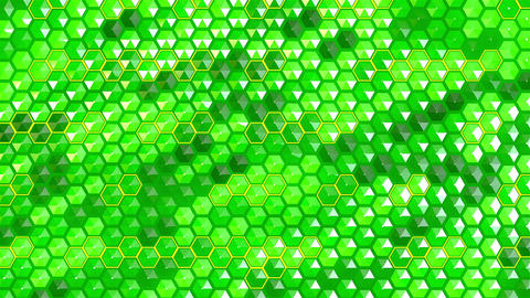 3D Hexagon Led Wall Stock Video Footage