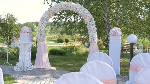 Wedding ceremony in a country house ビデオ