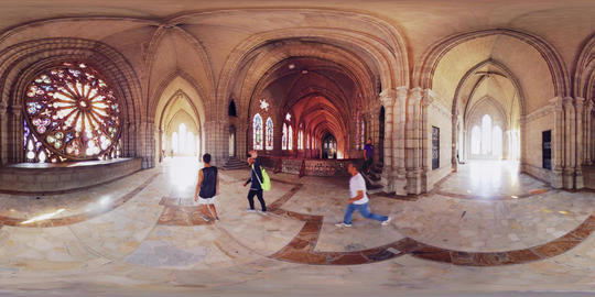 360Vr Basilica Del Voto Nacional Quito Ecuador Interior Footage