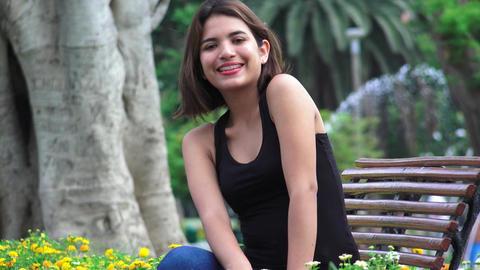 Teen Girl Happiness And Sadness Footage