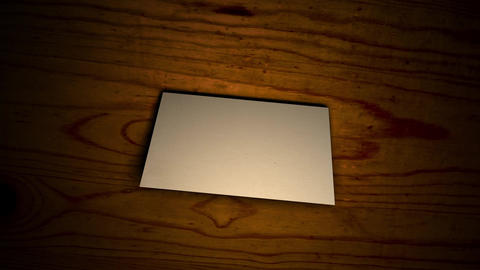 A letter on a wooden board 2, Fold in half Animation