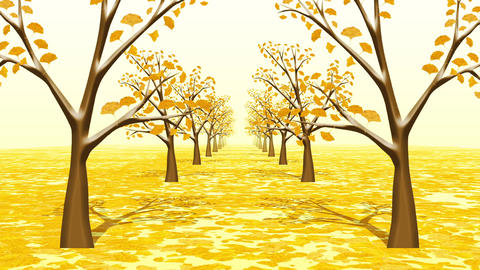 Ginkgo trees, loop Animation