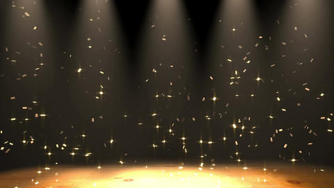 stage confetti, spotlight Animation