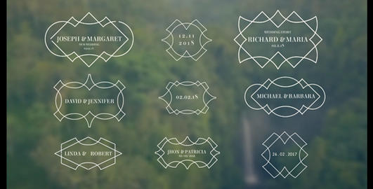 9 Wedding Titles V11 After Effects Template
