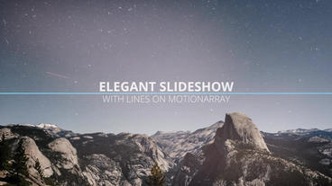 Elegant Slideshow With Lines Premiere Pro Template
