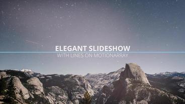 Elegant Slideshow With Lines PR模板