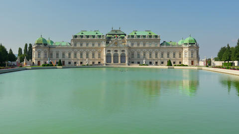 belvedere palace, vienna, austria, timelapse, 4k Footage