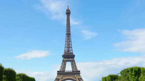 eiffel tower, paris, france, timelapse, zoom in, 4k Footage