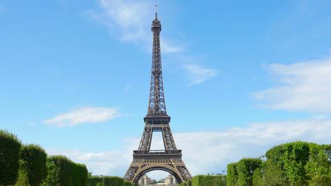 eiffel tower, paris, france, timelapse, 4k Footage