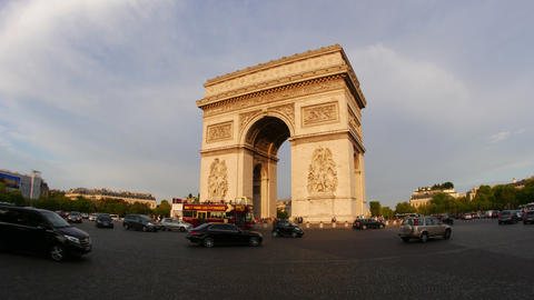 PARIS - FRANCE, AUGUST 2015: champs elysees, timelapse, zoom in Footage