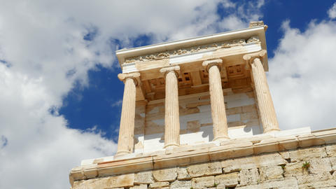 Acropolis, Athens, Greece, Timelapse, zoom out, 4k Footage