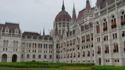 Budapest Parliament Building, Hungary, Timelapse, zoom in, 4k Footage