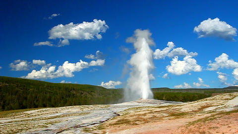 Old Faithful Geyser Yellowstone Footage