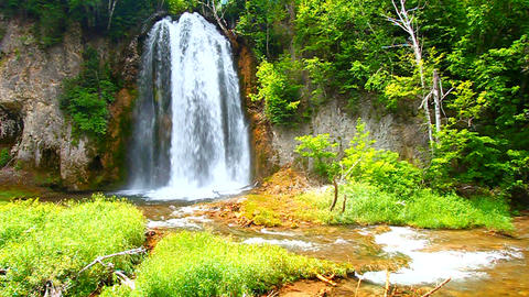 Spearfish Falls South Dakota Footage