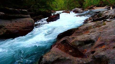 Avalanche Creek Cascade Montana Footage