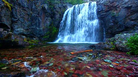 Glacier National Park Rockwell Falls Footage