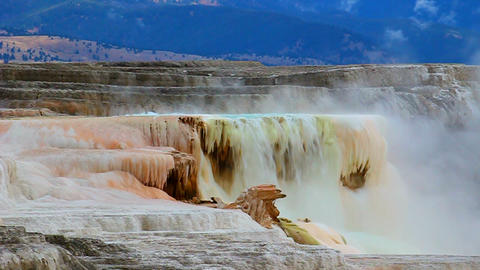Canary Spring of Yellowstone Footage