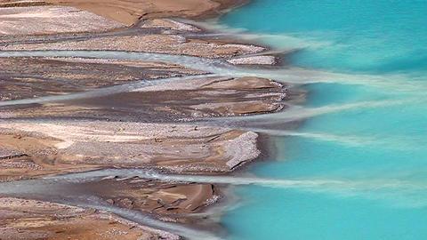 Peyto Lake Glacial Landscape Footage