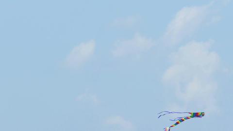 Colorful kite flying in sky, 4K Live影片