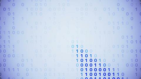 digital data image blue P 2 1 CG動画