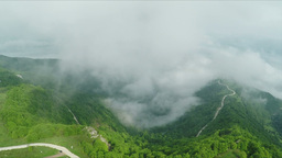 Beautiful mountain cloudy scenery Footage