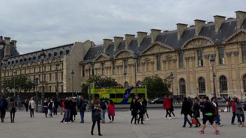 Louvre. The famous art museum in Paris. France Footage
