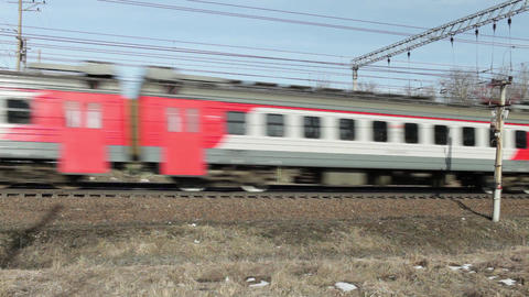 speed passenger electric train in motion Footage