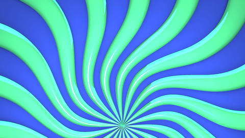 Abstract Green Wave On Blue Background Animation