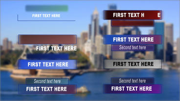 Clean and modern lower thirds After Effects Template