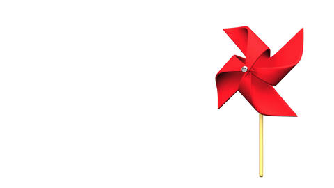 Loopable Red Pinwheel On White Text Space CG動画