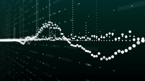Abstract animation of bar charts and world map in background Footage