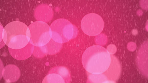 Pink romantic spots and rain CG動画素材