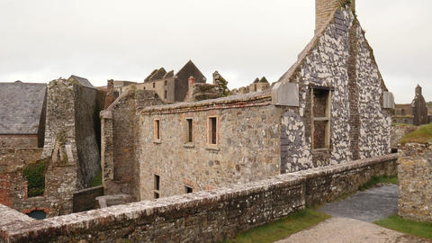 Charles fort barracks, a star shaped fort from 17th century in Ireland Footage