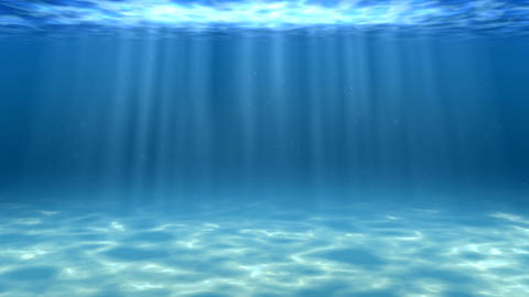Blue sea underwater view Animation