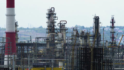 oil refinery units Filmmaterial