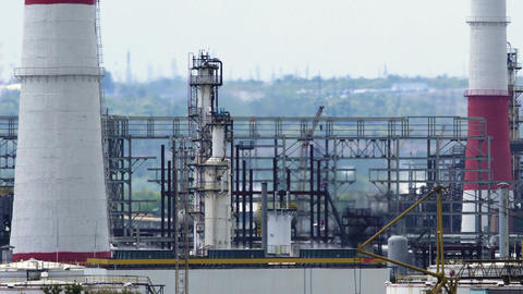 oil refinery units Footage