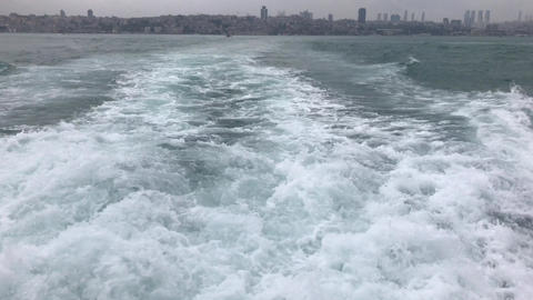 a view from the back grotto of the bosphorus in istanbul Footage