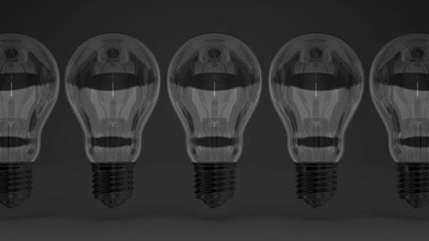 Some Electric Bulbs On Black Background CG動画