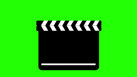 Clapperboard On Green Animation