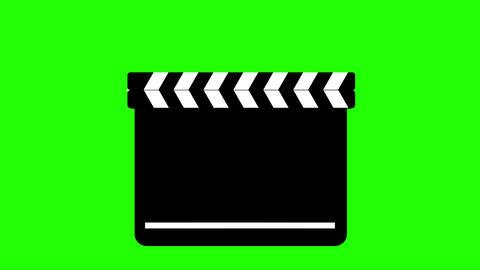 Clapperboard On Green CG動画