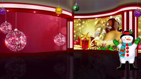 Christmas TV Studio Set 17- Virtual Background Loop ライブ動画