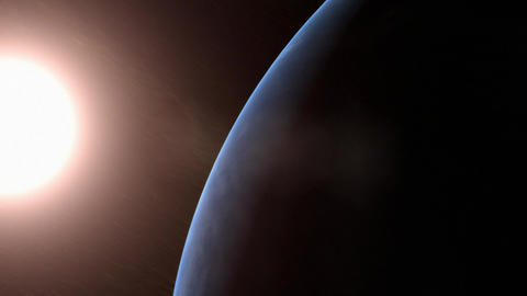 The Earth in the solar system orbit Animation