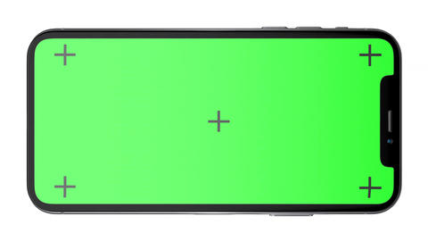 3D Silver Phone X with green screen and Luma Matte CG動画素材
