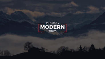 10 Modern Minimal Titles After Effects Templates