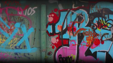 Garage Graffiti Original Loop 4K ビデオ