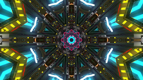 4k-kaleidoscope architecture pattern Animation