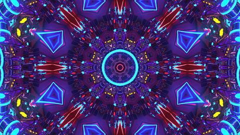4k-Strobing Flower Kaleidoscope Animation
