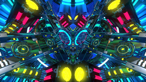 4k-VJ Cosmic Multicolor Abstract Animation