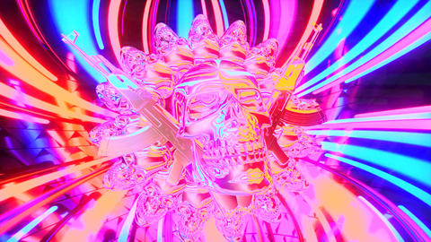 4k-VJ Cosmic Multicolor Abstract9 Animation
